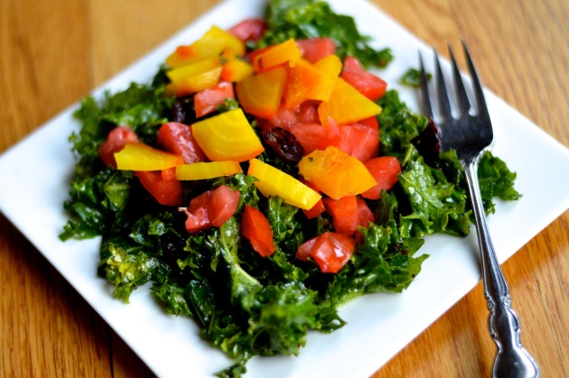 Kale, Beet, and Tomato Salad
